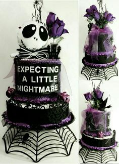 This is awesome for an october baby shower halloween babyshower ideas Fiesta Baby Shower, Baby Shower Parties, Baby Shower Themes, Baby Shower Gifts, Shower Ideas, Funny Baby Shower Cakes, Baby Gifts, Dessert Halloween, Theme Halloween