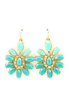 Turquoise Magali Earrings on Emma Stine Limited. @Sarah Turner, these would be pretty with the bridesmaids dresses! :)