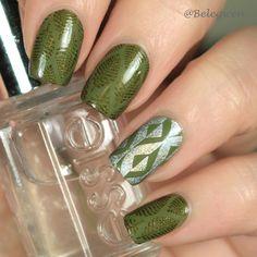 Colour Alike – Martini Olive ja Thornado Nail Art Designs, Nailart, Nail Polish, Colour, Beauty, Color, Nail Polishes, Polish