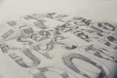 3D Typography on Behance