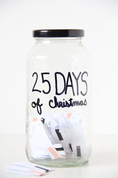 quick & easy DIY Advent Calendar ( a bit like my jar of goodness for mix tape kids)