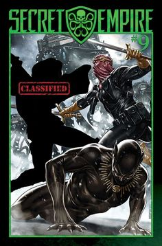 Marvel has revealed the cover for Augusts Secret Empire #9 while also promising that this penultimate chapter will reveal the secret of Steve Rogers. Check out the cover below:   Art by Mark Brooks. (Marvel Comics)  The cover depicts a mystery figure fighting Baron Zemo while a wounded Black Panther recovers in the foreground. Marvels press release also included the tease When Steve Rogers was revealed to be an agent of Hydra due to the manipulations of Red Skull the Marvel Universe was…