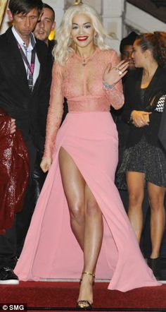 Rita Ora Gives Us a Peep Show in Pink Elie Saab Design on Fashion Police Rita Ora Images, Pink Dress, Lace Dress, Lace Bodice, Beautiful Dresses, Nice Dresses, Amazing Dresses, Elie Saab Spring, Pink Outfits