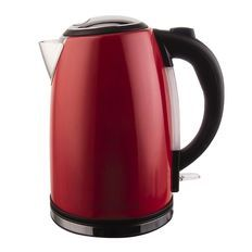 Living & Co Kettle Stainless Steel Red 1.7L