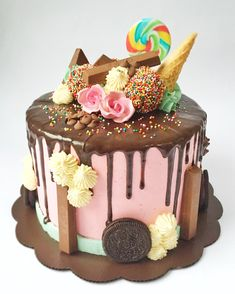 chockate cake coloured drip - Google Search