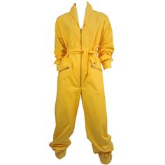 View this item and discover similar for sale at - Vintage Yves Saint Laurent bright yellow cotton mechanics jumpsuit with full zipper front and banded cuffs. Mechanic Jumpsuit, Yellow Jumpsuit, Yellow Clothes, Vintage Jumpsuit, Boiler Suit, Grunge, Gothic, Playsuit Romper, Yves Saint Laurent