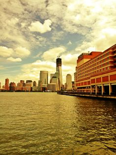 Jersey City pier, my daily walk to the path on the way to work.