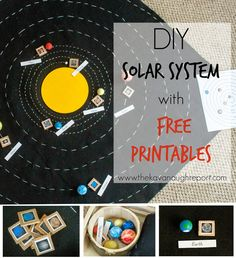 DIY Solar System Map - this Montessori inspired felt map is a great way to teach children about the solar system in a concrete way. With individual planets and orbits children can learn how the solar system is organized as they study it! - Crafts Diy Home Diy Montessori, Montessori Science, Montessori Classroom, Montessori Materials, Preschool Science, Science For Kids, Solar System Activities, Space Activities, Science Activities