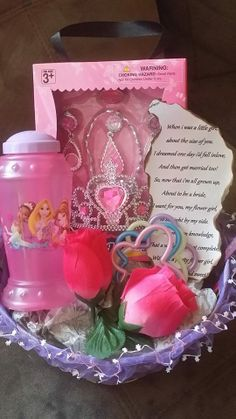 asking your flower girl with a few goodies and a basket!!