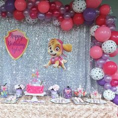 Party Architects at its best! We turned what is usually considered a boy's party theme into a completly high end glamed up girly party. Here is an event we designed and styled during the passed few weeks. #pawpatrolgirl  #pawpatrolparty  #cravemyparty #birthdaygirl #kidsbirthday  #glamitup #balloongarland  @dolcipiu  #skye #eventplanner #wedoitall #atoz #partyplanner #eventdesigner #eventstylist #askushow #highendparty #itsallinthedetails #pinkandpurple #pawpatrol #karaspartyideas #decor…