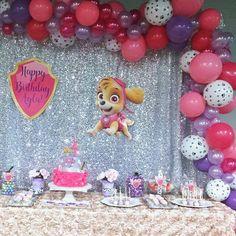 Super idea de decoración para fiesta de cumpleaños de la Patrulla Canina