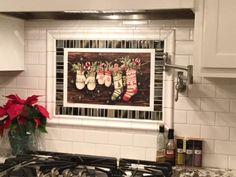 Snow Mittens - design #21212 #KitchenPalette #backsplashinnovations  #Interchangeablebacksplash #backsplash #kitchen  Contact: info@backsplashinnovations.com