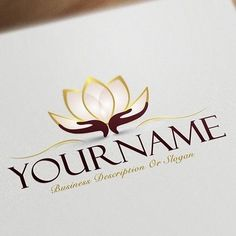 Exclusive Logo Design: Lotus Flower Logo Images + FREE Business Card Ready-made-Exclusive-design-with-a-Lotus-Flower-logo-image - Women Art Double Sided Business Cards, Free Business Cards, Business Card Logo, Business Card Design, Massage Logo, Flower Logo, Lotus Flower, Logo Mano, Design Lotus