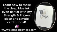 My idea for a clean and simple card using the Stampin' Up! Strength & Prayers Stamp Set was almost as it had been envisioned, except I wished the words were easier to read. You'll see how I made that happen when you watch my video tutorial to learn how to make the deep blue ink even darker! http://www.stampinsmiles.com/deep-blue-ink-even-darker Order Strength & Prayers Stamp Set in my online store http://www.shopwithshelly.com before it retires! #stampinupstrengthandprayerscards #faithbased