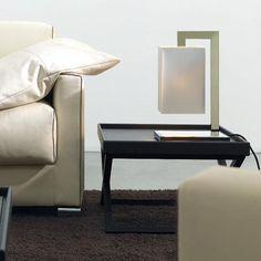 COCO DELUXE - Lampe à poser Miroir/Blanc H42cm Contardi