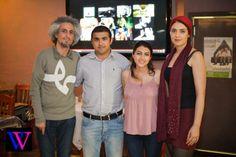 Mohsen Namjoo and His Wife Bahar Sabzevari in Saffron Persian Restaurant