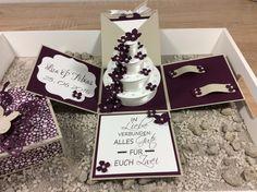 Geldgeschenke - Explosionsbox Magic Box zur Hochzeit Stampin' Up! - ein Designerstück von Stempelrose bei DaWanda