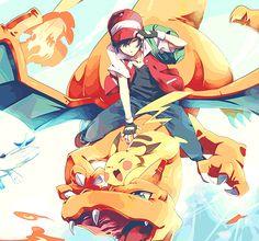 Pokemon Trainer Red, Pikachu and Charizard Fan Art Pokemon, Fotos Do Pokemon, Pokemon Red, Pokemon Stuff, Gold Pokemon, Pikachu Pikachu, Snorlax Pokemon, Pokemon Lugia, Pokemon Rouge