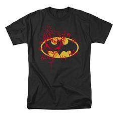 Batman STEEL WALL Metallic SHIELD Licensed Adult Tank Top All Sizes
