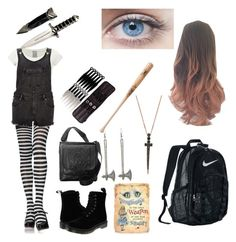 """""""Carmen"""" by justeph on Polyvore featuring Dr. Martens, River Island, Ropin West, Louisville Slugger, NIKE and Bee Goddess"""