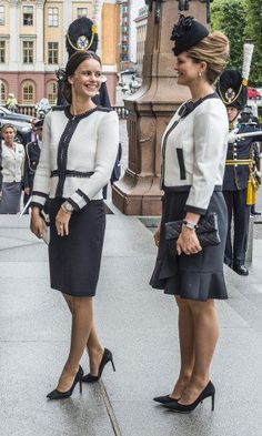 Princess Madeleine and Princess Sofia almost looked like twins in their very similar jackets.