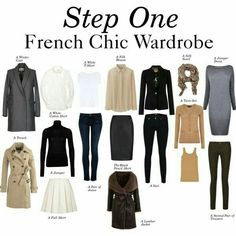 """Step One - French Chic Wardrobe"""" by charlotte-mcfarlane on . Mode Outfits, Fashion Outfits, Womens Fashion, Fashion Tips, Teen Fashion, Workwear Fashion, Fashion Trends, Latest Fashion, French Fashion"""