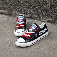 2cd1293409 Custom Printed Low Top Canvas Shoes - Cuban Proud Man Shoes