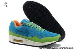 pretty nice ad8cc b5eb6 usine Bleu Vert 2013 Nike Air Max 87 Hommes Chaussures Nike Air Max  Running, Nike