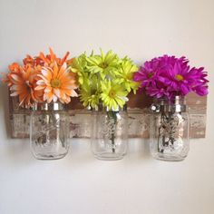 Rustic Wall Decor to display flowers by shoponelove on Etsy, $45.00