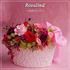 バラをふんだんに詰め込んだゴージャスなアレンジメントです。バラ好きにおすすめ。。【送料無料】ロザリンド/プリザーブドフラワー/ブリザードフラワー/プリザ/プリザーブ【SALE セール】【フラワーギフト 赤】母の日,敬老の日,内祝い,花,バラ,ギフト,敬老の日,内祝い,誕生日,結婚祝い,新築祝い,開店祝い,還暦祝い,贈呈用,贈答,両親,