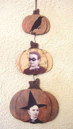 Gorgeous dangling pumpkins collage @Jenny Holiday