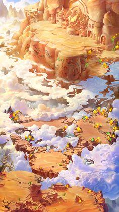 Game Level Design, Game Design, Game Background, Animation Background, Environment Concept Art, Environment Design, 2d Game Art, Fantasy Art Landscapes, Game Concept Art