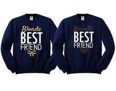 Blonde and Brunette Best Friends Girl BFFS Sweatshirts