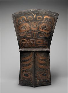Ceremonial Copper 19th century Geography: United States, Alaska Culture: Tlingit Medium: Copper, paint Dimensions: H. 34 1/4 x W. 21 x D. 7/8 in. (87 x 53.3 x 2.2 cm) Classification: Metal-Implements Credit Line: The Michael C. Rockefeller Memorial Collection, Bequest of Nelson A. Rockefeller, 1979 - Chief George Kyan, Ketchikan, AK, 1880s–(d.)1955; by bequest to his family