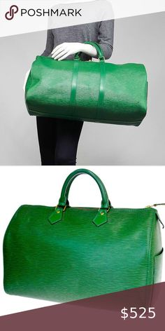 Gym Bag, Louis Vuitton, Handbags, Best Deals, Check, Womens Fashion, Green, Leather, Closet