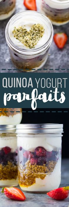 These meal prep High Protein Berry Yogurt Parfaits have extra staying power thanks to quinoa.