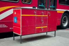 God of salvage Rupert Blanchard created some units from old bus panels. Stunning.