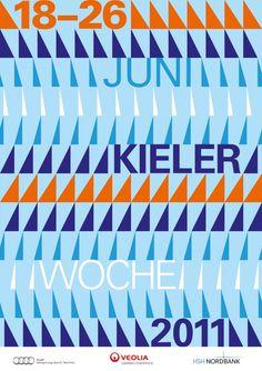Great poster for Kieler Woche, an international annual regatta in Kiel, Germany. By Hubert & Fischer. Love it.