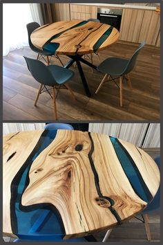 Epoxy Table - Welcome Epoxy Table Ideas Resin Furniture, Furniture Design, Table Furniture, Epoxy Wood Table, Wood Table Design, Table Sizes, Resin Crafts, Wood Projects, Home Furnishings