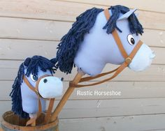 Stick Horse Sewing Pattern and Tutorial Rustic Horseshoe's Cartoon Collection Stick Horse Hobby Horse Horse Birthday Parties, Cowboy Birthday, Make Your Own Cartoon, Cumple Toy Story, Sheriff Callie, Stick Horses, Horseshoe Crafts, Hobby Horse, Blue Sparkles