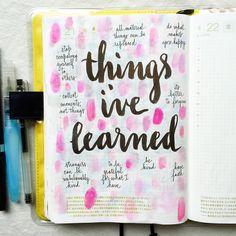 Day 21 of #listersgottalist: things I've learned #journal #artjournal…