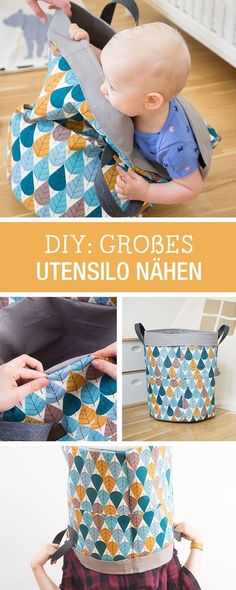 bag sewing patterns Nhanleitung fr ein schnell genhtes Utensilo, sorgt fr Ordnung im Kinderzimmer / diy sewing tutorial: quick sewn bag prevents chaos in the kid's room via Love Sewing, Sewing For Kids, Baby Sewing, Diy For Kids, Sewing Hacks, Sewing Tutorials, Sewing Tips, Costura Diy, Diy Couture