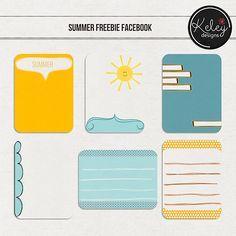 Free Summer Journal Cards | Annemarie's Art/Digital Scrapbooking: Creative Team for Keley Designs