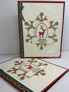 Stampin Up! Christmas Card  by Becky Roberts at Inking Idaho
