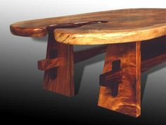 Coffee table, trestle leg