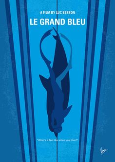 Le grand bleu (The Big Blue) (1988) ~ Minimal Movie Poster by Chungkong #amusementphile