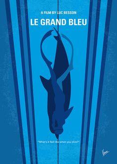 Le grand bleu (The Big Blue) (1988) ~ Minimal Movie Poster by Chungkong #amusementphile
