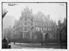 The Cornelius Vanderbilt II Mansion 742-748 Fifth Ave. (Demolished): C.Vanderbilt II used the inheritance from his father the Commodore to buy 3 brownstones on the corner of 57th St. and 5th Ave.
