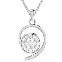 White Gold Ct Round Natural Diamond Cluster Halo Pendant W/ Chain White Gold Jewelry, Flower Pendant, Natural Diamonds, Halo, Jewelry Watches, Fine Jewelry, Pendants, Pendant Necklace, Silver