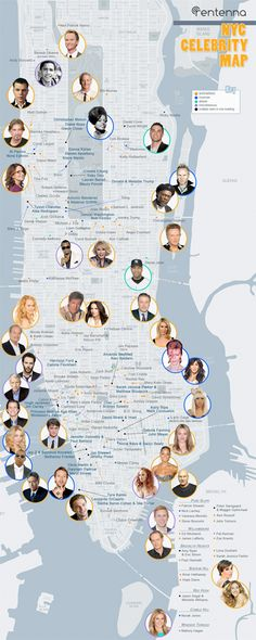 Check out this map to see the Who's Who of #NYC